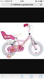 Girls Halford Apollo Cupcake Bike