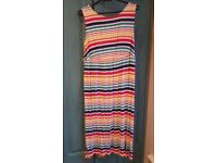 Rainbow striped maternity dress size 8 Blooming Marvellous Mothercare range