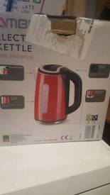 Red Cordless Jug Electric Kettle