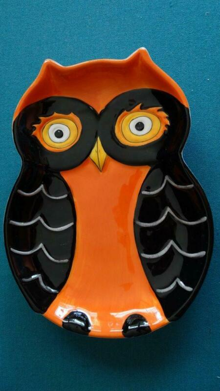 Halloween Owl Candy Dessert Plate Dish  M Studios Set of 4 New