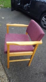 Two comfy dinner chairs for sale