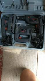 Power tool set in case