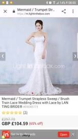 Lanting bride wedding dress new with tags size 10