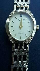 Accurist Diamond Gold Ladies Bracelet Watch