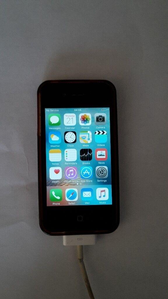 I phone 4 Locked Talk talk black