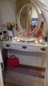French chic dressing table and mirror - stunning!