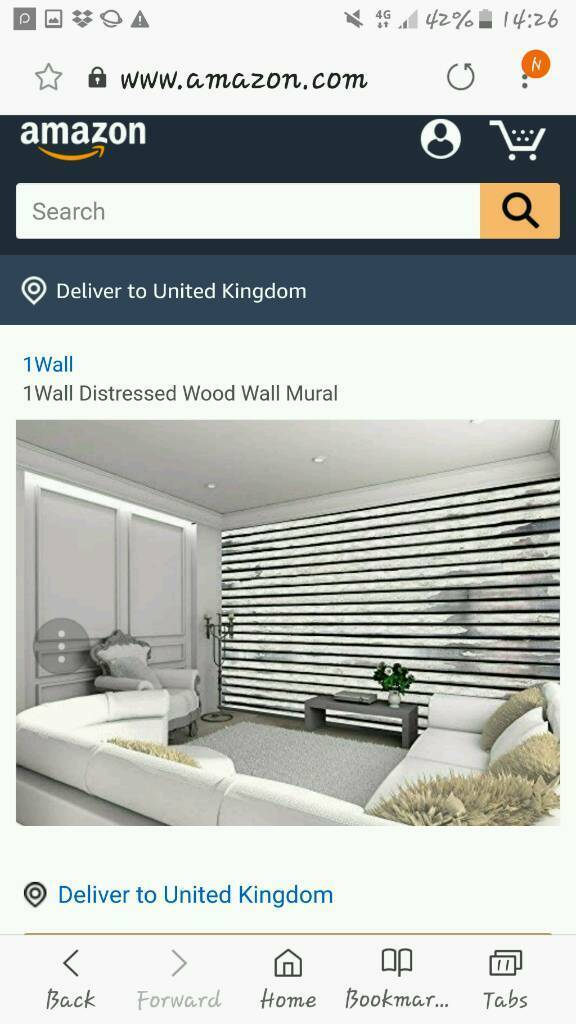 Distressed wood wall mural | in Newton Mearns, Glasgow | Gumtree
