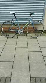 "Blue Challenge Vintage Single Speed Road Bike, 700C Wheels, 20"" Frame"