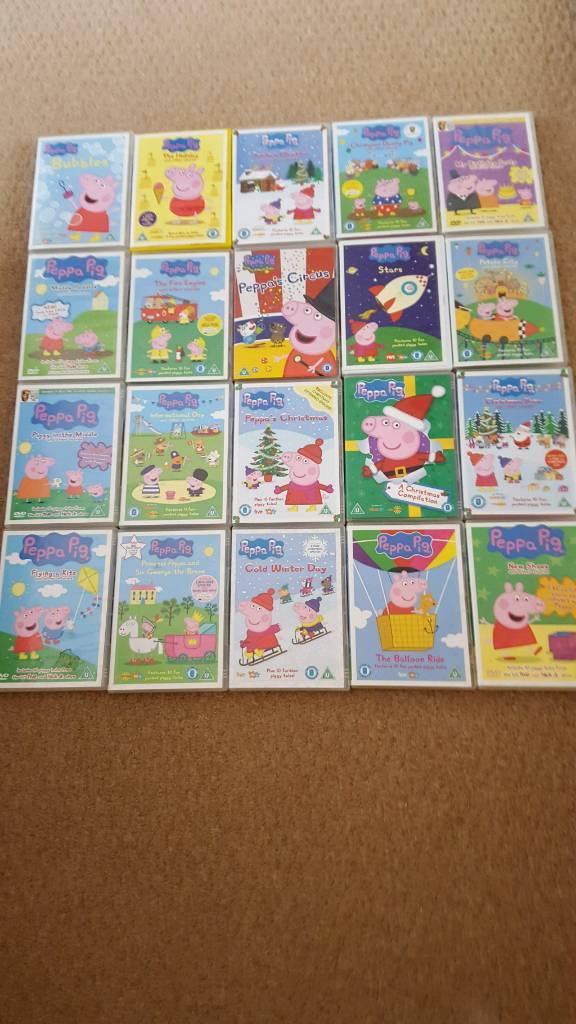 20 Peppa Pig Dvds 1.50 each