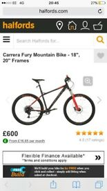 Carrera Fury 2018 -Frame size 20 (Good as new)