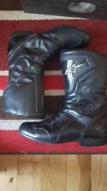 Alpinestars Uk9/9.5 black motorcycle boot
