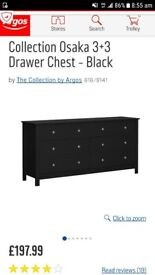 osaka 3 + 3 drawer chest. new and unopened in box