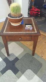 SIde table with draw dark wood