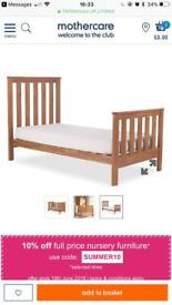 Mothercare Jamestown cotbed/ toddler bed