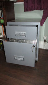 METAL SECURE FILING CABINET GREY LOCKABLE DRAWER SUSPENSION FILES