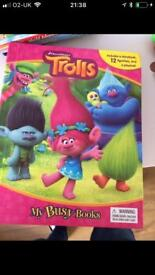 Trolls paw patrol and finding dory busy books