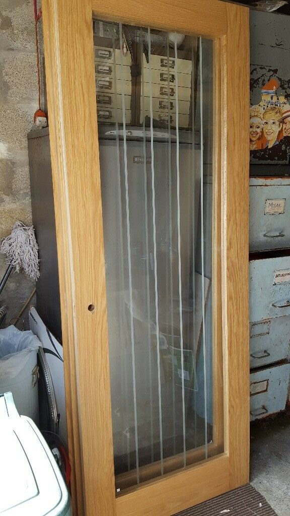 new concept 51850 1b52c Pair of Howdens 'Genoa' Oak Glazed Doors. Internal. | in Caerphilly |  Gumtree