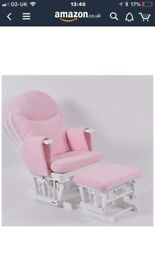Nursing chair - pink and white