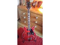 Vintage Epiphone EA250 Riviera 1970's. Semi Acoustic Guitar.