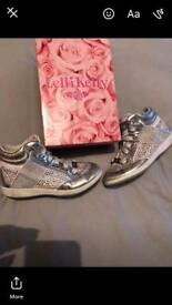 Boxed size 31 lelli Kelly high top trainers