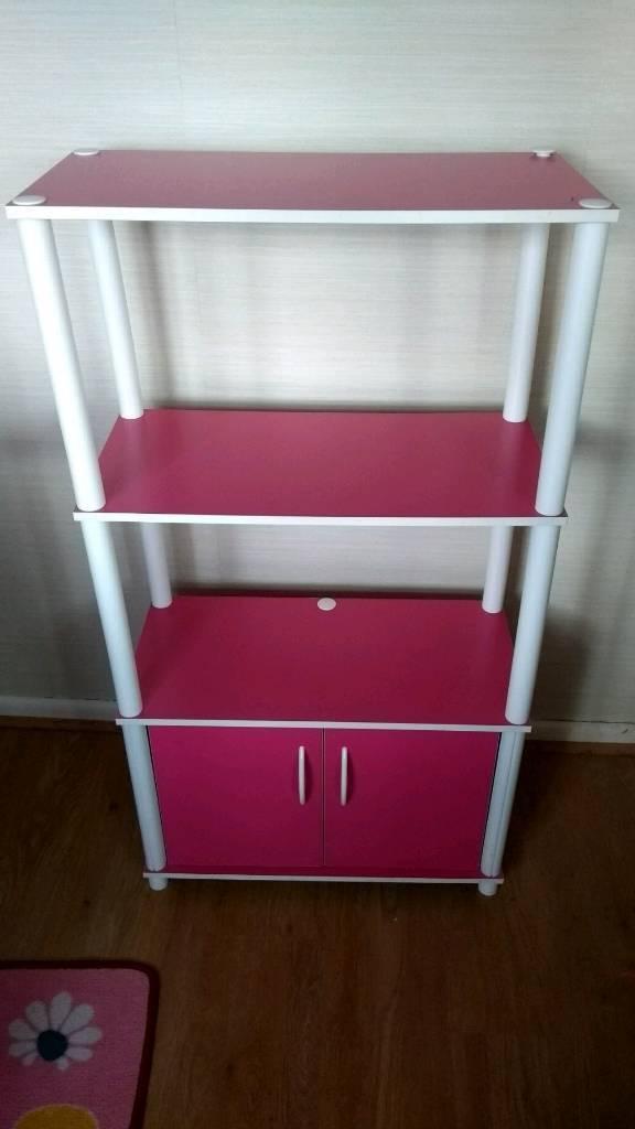 Kids pink free standing units