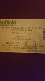 1 Madness concert ticket available. For the 9th of decmeber at Sheffield arena. In block 115.