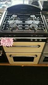 LEISURE 60CM GAS DOUBLE OVEN COOKER IN CREAM