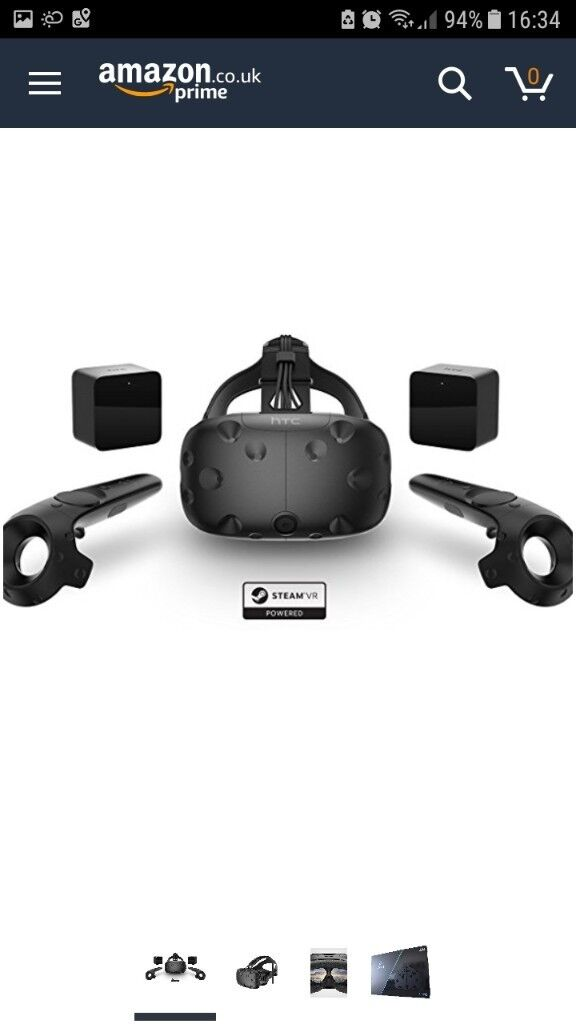 HTC Vive VR headset wands and room sensors