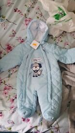 0-3 month snowsuit still with tags