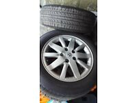 Two sets alloys Renault 15inch with good tyres and ford 5stud 17inch with good tyres £270