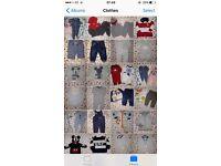 Big bundle of baby boy clothes 6-9m Ralph Lauren,Nike,Next,converse