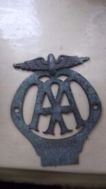Vintage AA Automobile Club membership badge, No 13885 B, issued between June 1931 and November 1932.