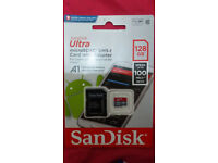 SanDisk Ultra microSDXC 128gb Card with Adapter