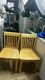 PINE WOOD 4 DINNING TABLE CHAIRS