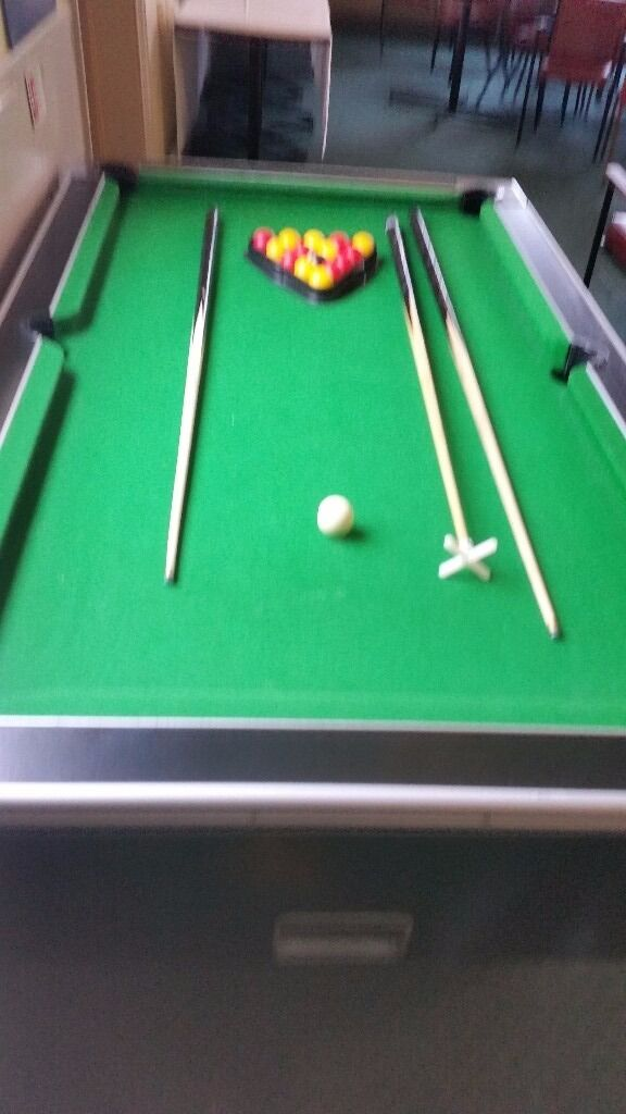 Childrens pool table. VGC. Balls and Cues includedin Portsmouth, HampshireGumtree - Childs pool table in very good condition. Balls and cues included. Coin operated which can be overidden. Property of social club now closing down