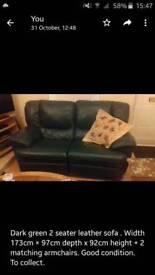 Bargain Reclining leather sofa suite!