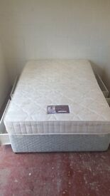 Double divan bed with mattress & 4 drawers (delivered free)