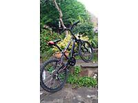 "Boys Apollo 'Guru' bike black 20"" wheel great condition"
