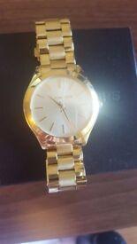 Ladies Michael Kors watch- genuine- gold