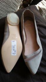 Ladies grey suede FAITH shoes size 5