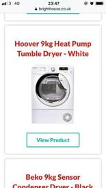 Hoover tumble dryer white brand new text