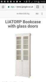 Liatorp Cabinet Half Glass Doors