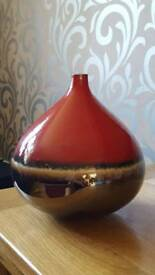 Red and Bronze Vase