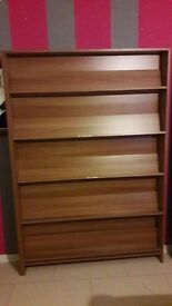 large book shelve( with 5 tier bookshelves) still in excellent condition approximatel 200x130x24 cm