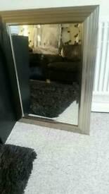 Heavy duty bevilled mirror