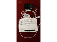 Plusnet Technicolor Wireless Wi-fi Modem Router TG582N with plug adapter and ADSL filter