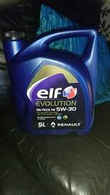 ELF EVOLUTION 5W-30 engine oil. 5 litres. New unopened