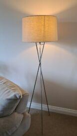 Modern Chrome standing Tripod floor lamp