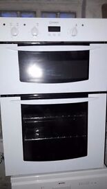 Built in Indesit double oven