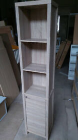 Tall boy Storage Unite One Door - Oak Effect